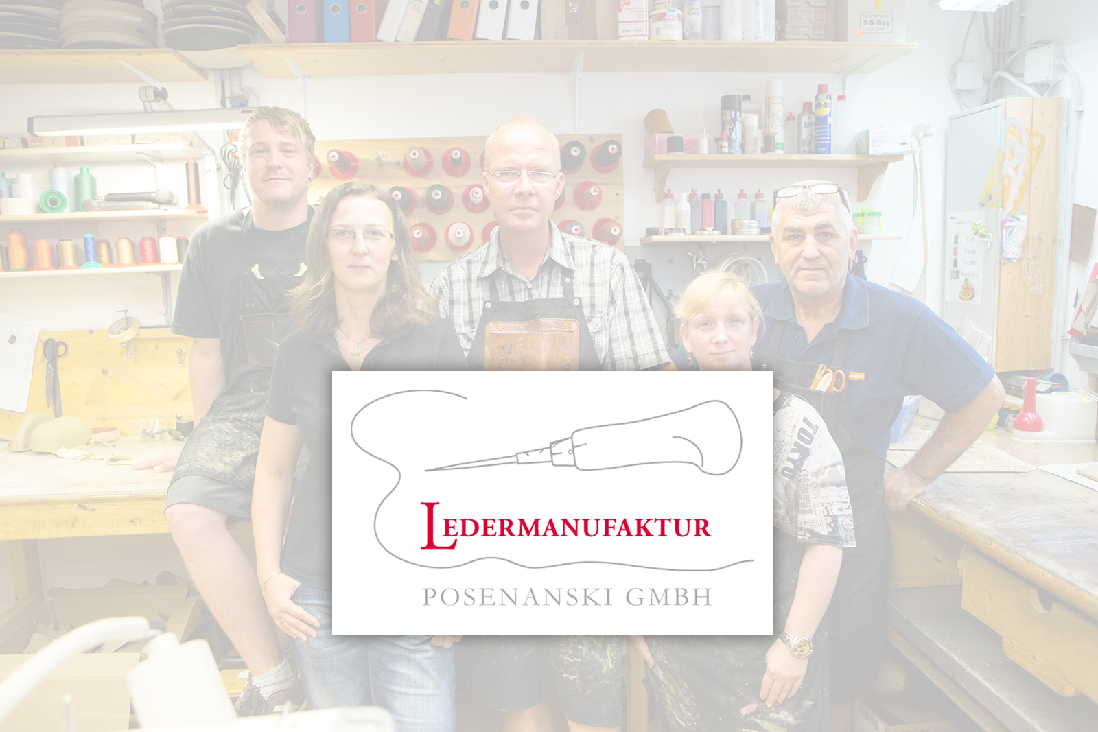 © Business-Portrait | Ledermanufaktur Posenanski | Logo mit Team